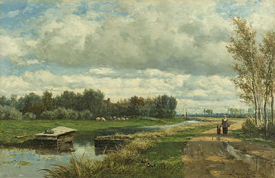 Landscape Near The Hague Poster by Willem Roelofs