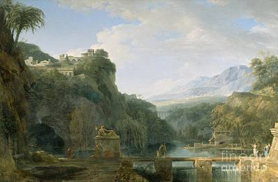 Landscape Of Ancient Greece Poster by Pierre Henri de Valenciennes