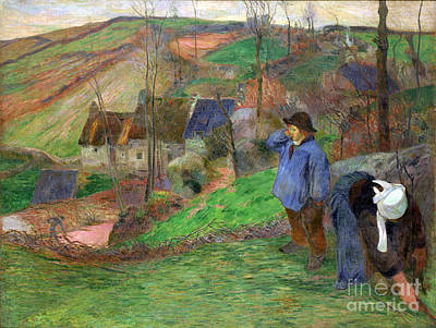 Landscape Of Brittany Poster by Gauguin