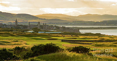 Landscape Of St Andrews Home Of Golf Poster by MaryJane Armstrong