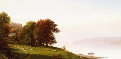 Landscape On The Hudson Poster
