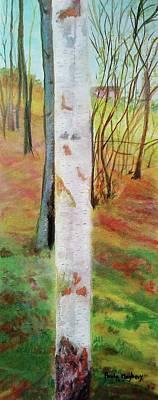 Landscape Silver Birch Poster