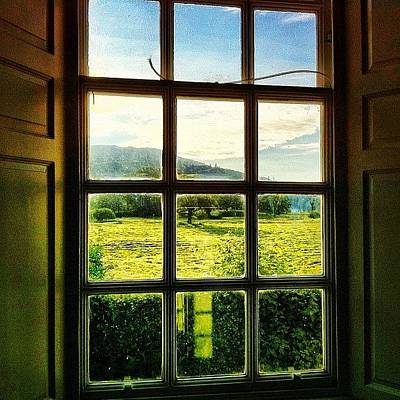#landscape #window #beautiful #trees Poster by Samuel Gunnell