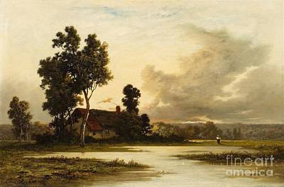 Landscape With A Cottage Poster by MotionAge Designs