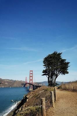 Landscape With Golden Gate Bridge Poster