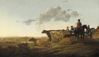 Landscape With Herdsmen Poster