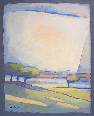 Landscape With Lake Poster by Lutz Baar