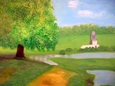 Landscape With Luxuriant Tree And Folly Poster