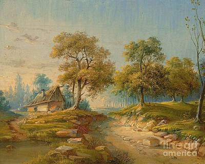 Landscape With Pond Poster