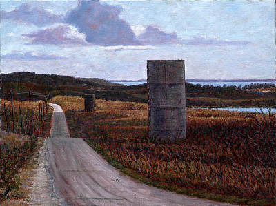 Landscape With Silos Poster