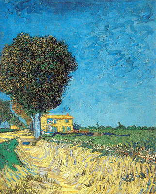 Poster featuring the painting Lane Near Arles by Van Gogh