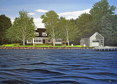 Poster featuring the painting Langer Summer Home Lake Simcoe by Kenneth M Kirsch