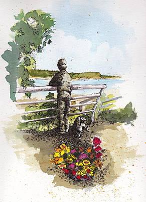 Langley Boy And Dog Poster