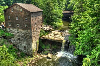 Lanterman's Mill And Covered Bridge - Youngstown Ohio Poster by Gregory Ballos