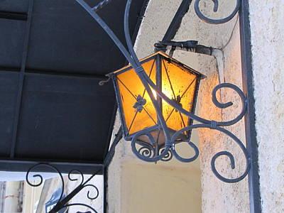 Poster featuring the pyrography Lantern  by Yury Bashkin