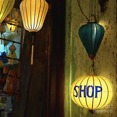 Lanterns At A Gift Shop Entrance Poster