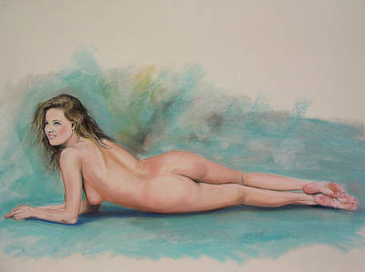 Large Pastel Nude Poster