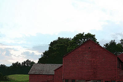 Large Red Barn Poster