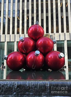 Large Red Ornaments Poster