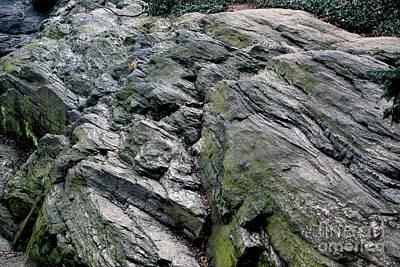Large Rock At Central Park Poster