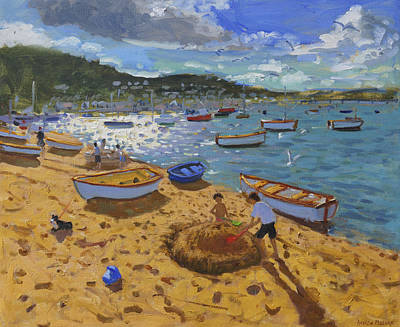 Large Sandcastle Teignmouth Poster by Andrew Macara
