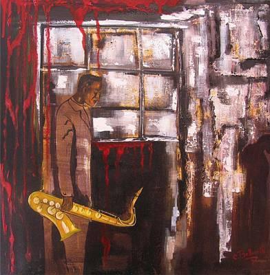 Larmes Du Jazz Poster by Cathy Belleville