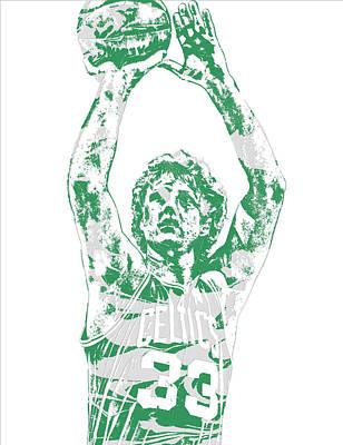 Larry Bird Boston Celtics Pixel Art 5 Poster