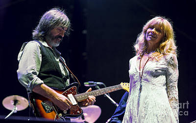 Larry Campbell And Teresa Williams  Poster by David Oppenheimer