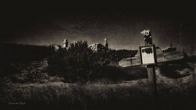Las Cruces De Galisteo New Mexico Poster by Karen Slagle