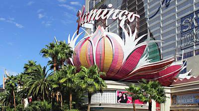 Las Vegas Flamingo Hotel Lotus Blossom Poster