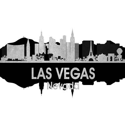 Las Vegas Nv 4 Squared Poster by Angelina Vick
