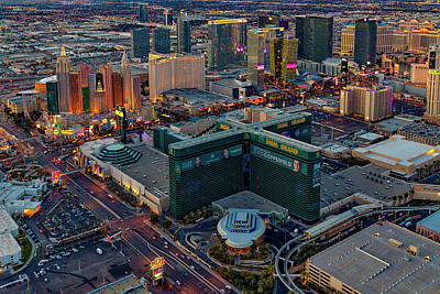 Poster featuring the photograph Las Vegas Nv Strip Aerial by Susan Candelario