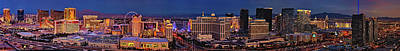 Poster featuring the photograph Las Vegas Panoramic Aerial View by Susan Candelario