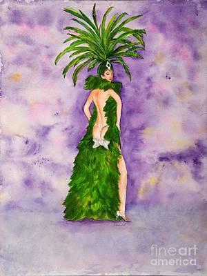 Las Vegas Show Girl Poster by Vicki  Housel