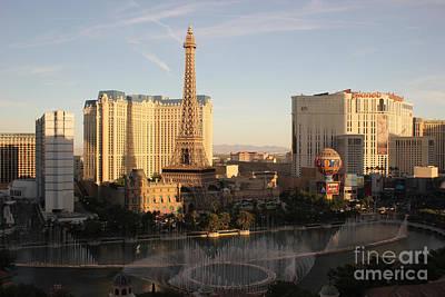 Poster featuring the photograph Las Vegas Skyline by Wilko Van de Kamp