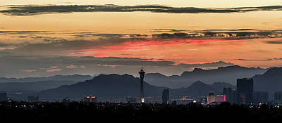 Poster featuring the photograph Las Vegas Sunrise July 2017 by Michael Rogers