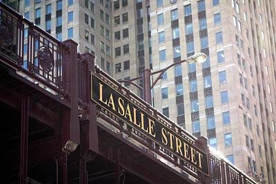 Lasalle Street Bridge - Chicago River Poster by Daniel Hagerman