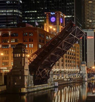 Lasalle Street Bridge Up - Chicago Poster by Daniel Hagerman