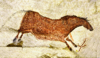 Lascaux Red Horse Poster