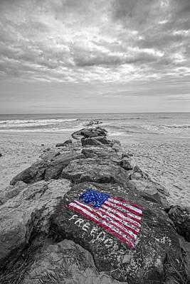 Lashley Beach Freedom Poster by Robert Seifert