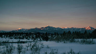 Last Light On Pagosa Peak Poster