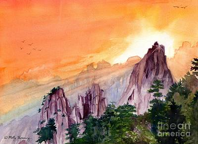 Morning Light On The Mountain Poster by Melly Terpening