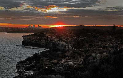 Poster featuring the photograph Last Light Over North Head Sydney by Miroslava Jurcik