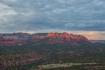 Last Sedona Light Poster by Bill Cantey