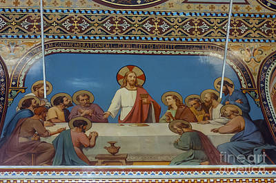 Last Supper In Polycarp Church Poster by Bob Phillips