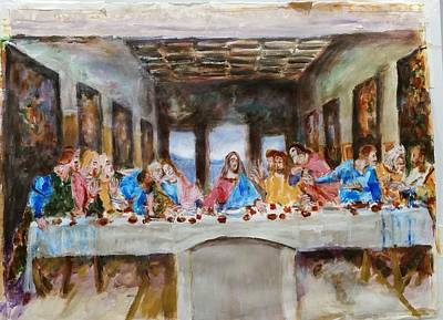Last Supper. Leonardo Da Vinci. Sketch Poster by Bachmors Artist