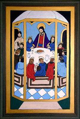 Poster featuring the painting Last Supper by Stephanie Moore