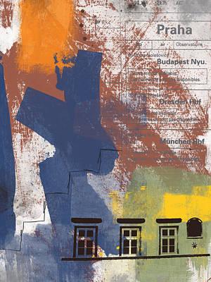 Last Train To Prague- Art By Linda Woods Poster