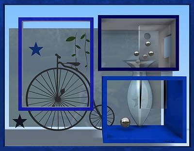 Last Years In Blue Poster by Alberto  RuiZ