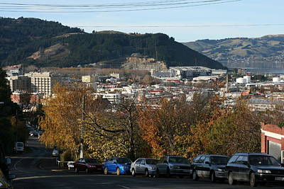 Late Autumn View To North Dunedin Poster by Terry Perham